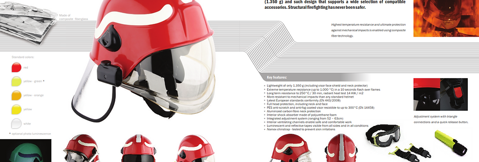 PAB Fire Fighter Helmet