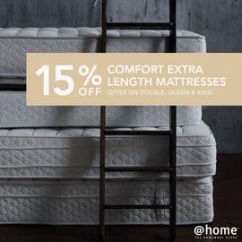 15% off Comfort Xlength mattress - Newsf