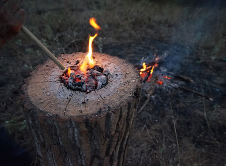 Making a Choctaw Mortar
