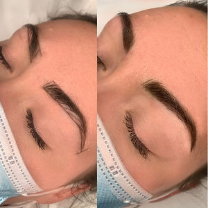 Eyebrows semi-permanent makeup