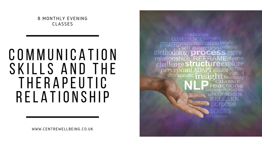 Communication Skills & the Therapeutic Relationship ONLINE £319