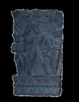 FREGIO LIGNEO ISTORIATO – RᾹMA INDIA – XIX sec.