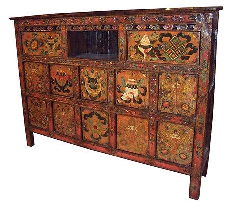 Cabinet Tibetano periodo XIX sec. circa -165× 40× 131cm
