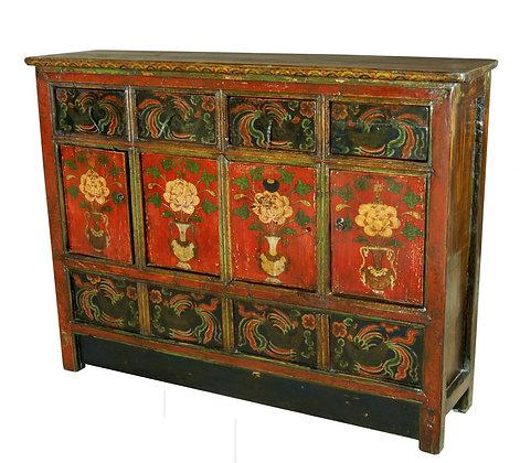 Cabinet Tibetano XIX secolo circa - 145 × 40 × 112 cm