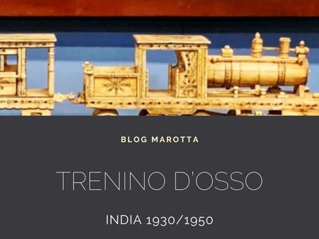 TRENINO IN OSSO - INDIA, 1930/1950