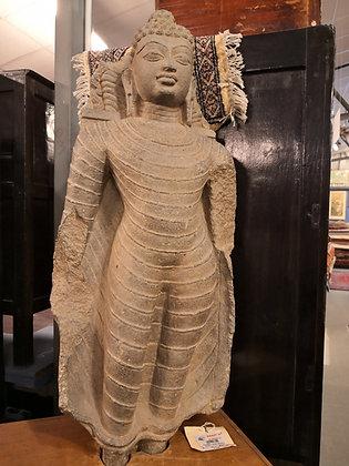 BUDDHA SCULTURA INDIA – Datazione incerta Misure: L 28 X P 16 X H 71 cm