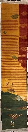OCCASIONI – Tappeto Orientale Annodato a Mano Gabbeh Colorato - 288x62
