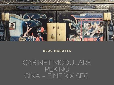 CABINET MODULARE PEKINO CINA – Fine XIX sec.Misure: L 87 X P 52 X H 180 cm