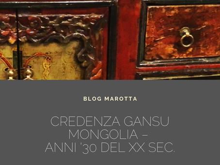 CREDENZA GANSU MONGOLIA – Anni '30 del XX sec. Misure: L 129 X P 41 X H 55 cm