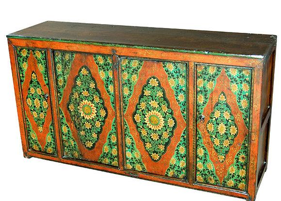Cabinet Tibetano XIX secolo circa - 152 × 43 × 84 cm