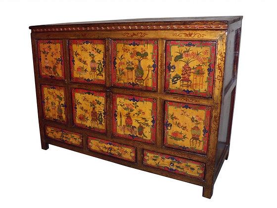 Cabinet Tibetano XIX secolo circa - 141 × 57 × 106 cm