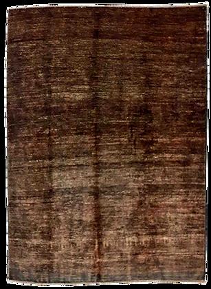 Black - Tappeto Orientale Annodato a Mano - 224 x 183 cm