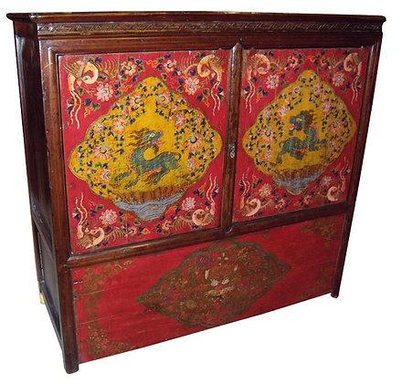 Cabinet Tibetano XIX secolo circa - 123 × 49 × 116 cm