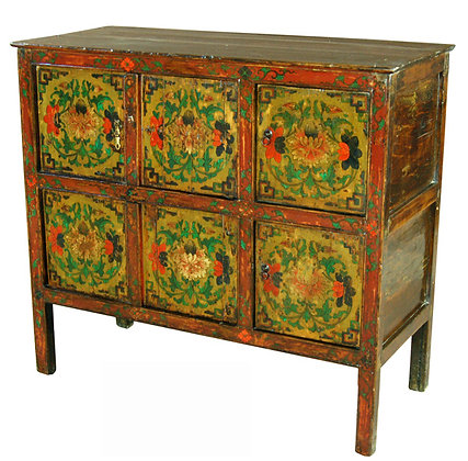 Cabinet Tibetano XIX secolo circa - 113 × 48 × 101 cm