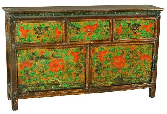 Cabinet Tibetano XIX secolo circa - 140 × 30 × 84 cm