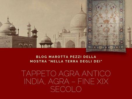 TAPPETO AGRA ANTICO INDIA, AGRA – Fine XIX secoloMisure: H 287 X L 206 cm