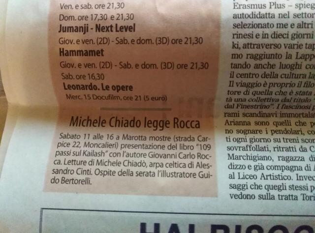 Michele Chiadò legge Rocca