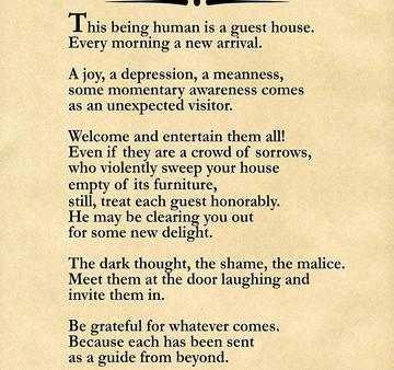 Rumi says ......