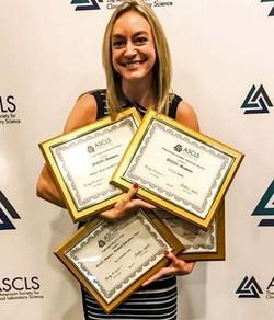 Tori with Montana awards