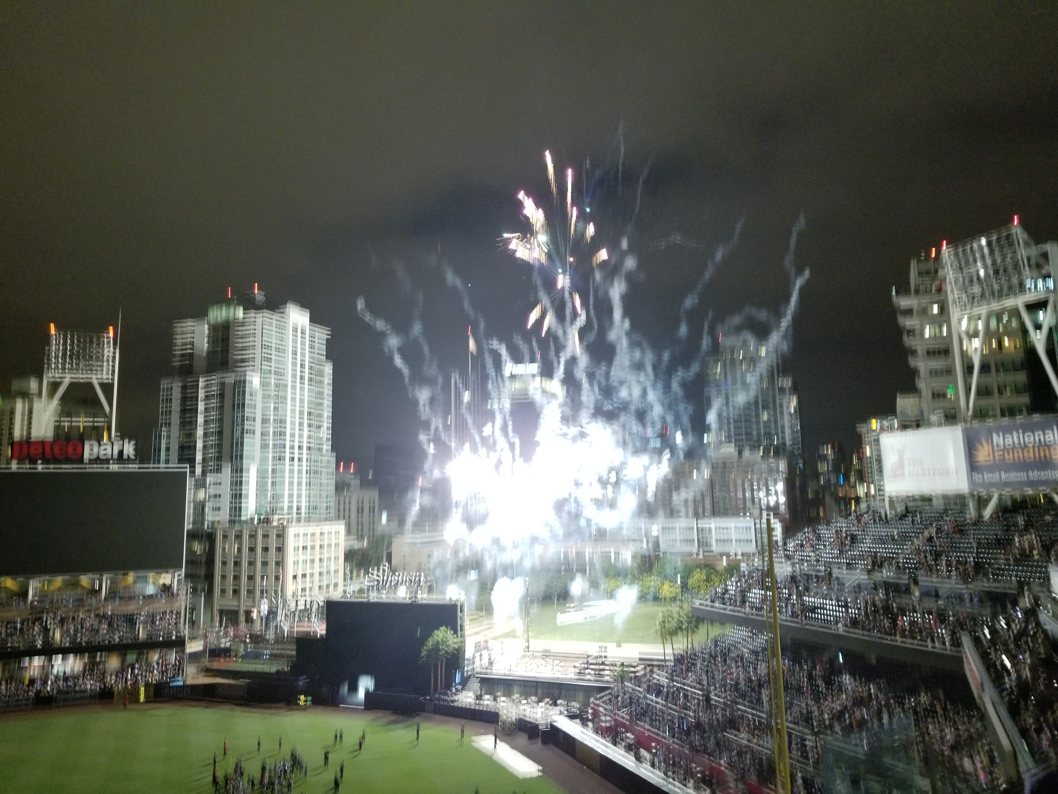 Fireworks after Padre Game