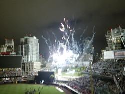 Fireworks after Padre Game