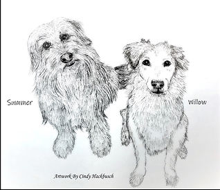 Frazier daughters dogs artwork - Copy (2