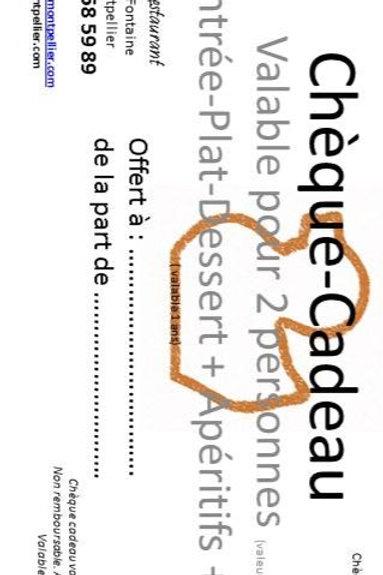 « Bon canard » Chèque Cadeau ENTRÉE+ PLAT+ DESSERT+ CAFÉ+ BOISSONS