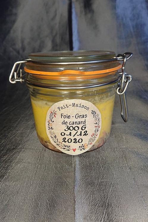 Foie gras de canard mi-cuit 300Gr en Pot