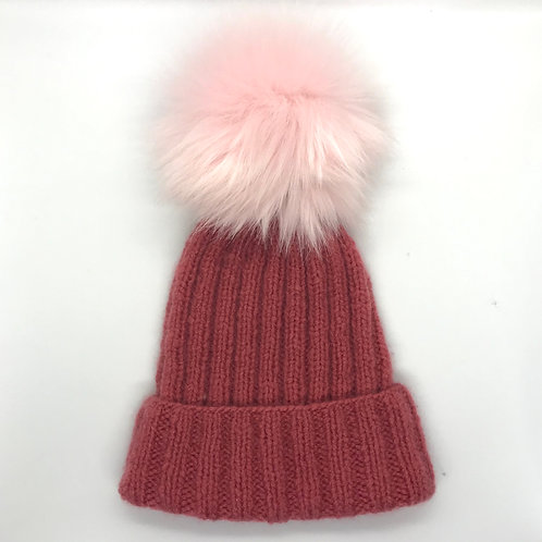 Cashmere Light Beanie with Pompon - Breithorn