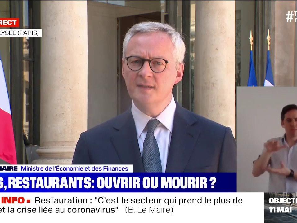 Hôtellerie - Restauration - Tourisme : mesures de soutien annoncées par Bruno Le Maire