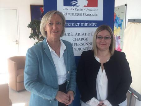 Ma rencontre avec Sophie Cluzel : les situations d'urgence et les accueillants familiaux en Essonne