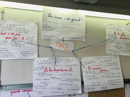 Visite dans l'école Victor Hugo d'Arpajon dans le cadre du Parlement des Enfants