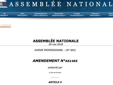 """""""Liberté de choisir son avenir professionnel"""" : interventions et amendements adoptés"""
