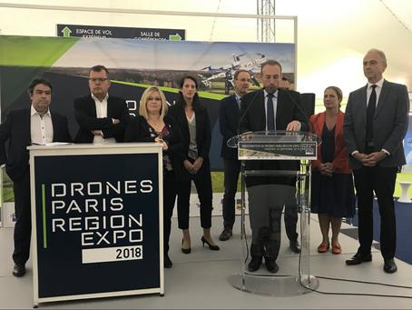Inauguration de la Drones Paris Expo à Brétigny-sur-Orge