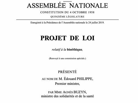 Projet de loi relatif à la bioéthique