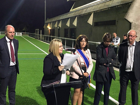 Inauguration du nouveau terrain synthétique au Stade Maurice Gallais de Dourdan