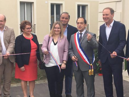 Inauguration de la maison du commerce et de l'artisanat à Arpajon