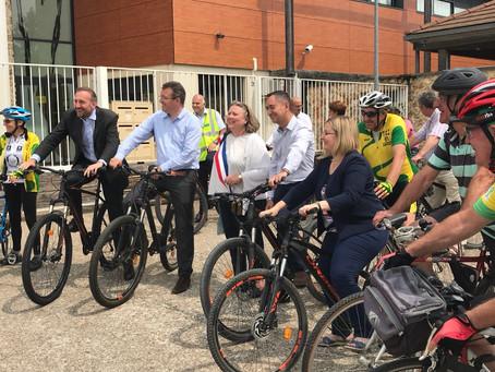 Discours d'inauguration de la piste cyclable entre Lardy et Saint-Vrain