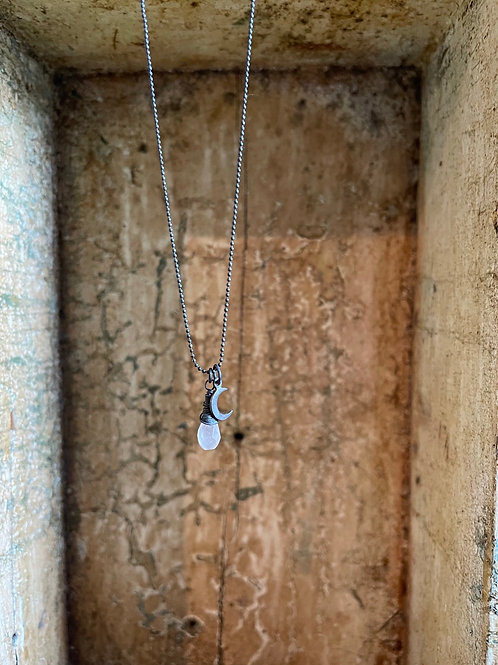 Rose Quartz Drop Necklace
