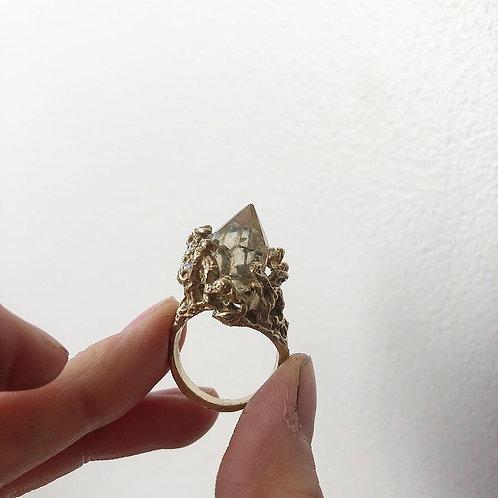 Citrine Point Ring