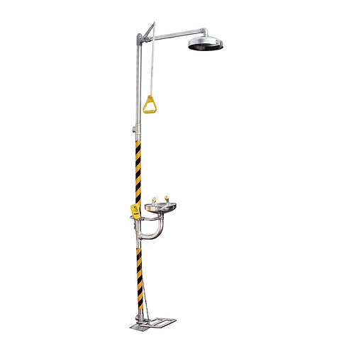 Ducha Lava Ojos Inox 316 Con Pedal Bd-550A - PEDAL BD-550A