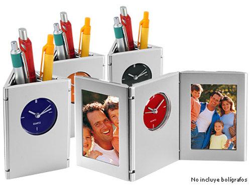 Porta-Lápices con Reloj
