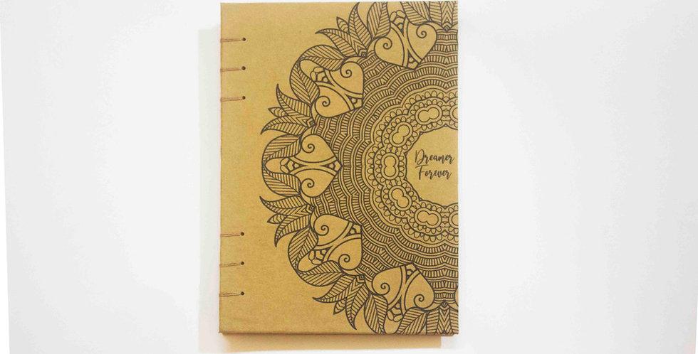 Dreamer Forever - A5 Art Journal - Kraft Journal by NAHADS