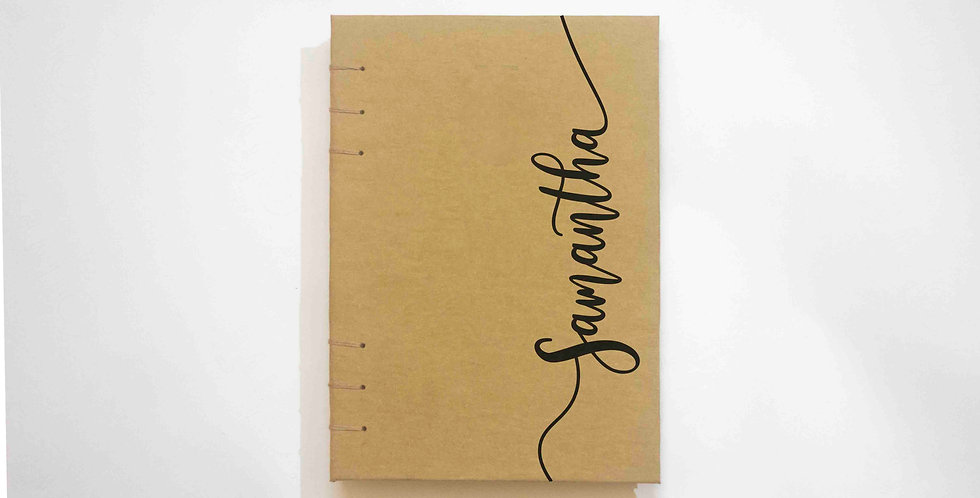Your Name Calligraphy - A5 Art Journal - Kraft Journal by NAHADS