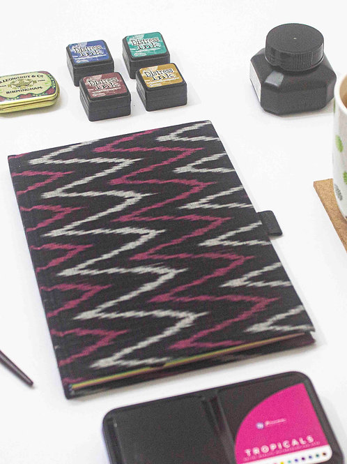Ikat - Dotted edition - A5 Notebook by NAHADS