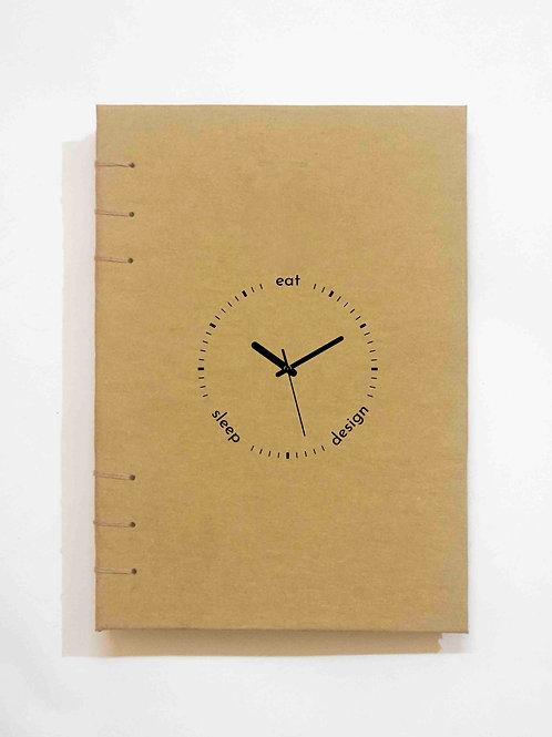 Eat. Sleep. Design - A5 Art Journal - Kraft Journal by NAHADS