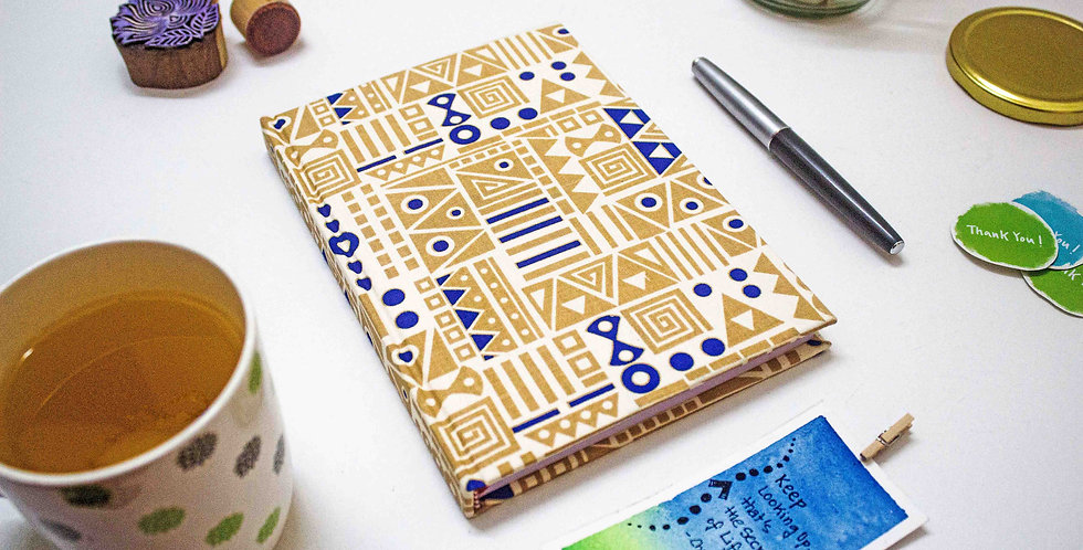 Dots & Triangles for notes & poetry - A5 Notebook by NAHADS