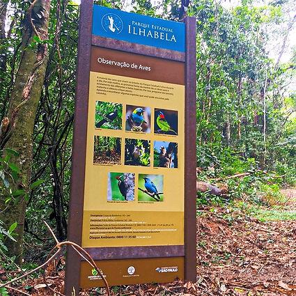 Sinalização em Madeira Plástica para o Parque Estadual de IlhaBela