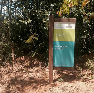 Sinalização em Madeira Plástica para o Parque Biodiversidade Sorocaba