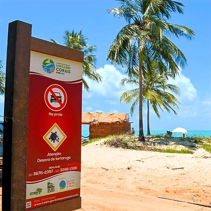 Sinalização em Madeira Plástica para Área de Proteção Costa dos Corais (APACC) Fundação Toyota